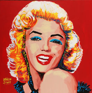 Marilyn the Flirt - 24x24 - SOLD