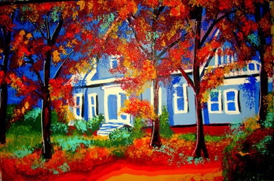 Blue House - 24x36 - SOLD