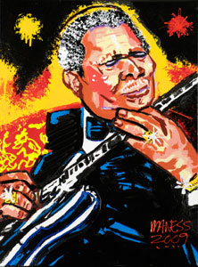 STAGE LIGHTS<br>BB King - 18x24 - SOLD