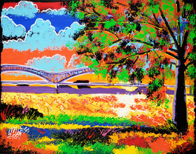 Sunset on the Mississippi - 24x30 - SOLD