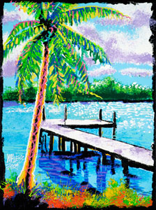 Shimmering Dock - 18x24 - SOLD