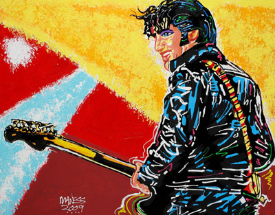 Elvis 68 Special - 22x28 - SOLD