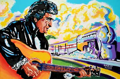 Johnny Cash<br>Coming Round the Bend - 24x36 - ?
