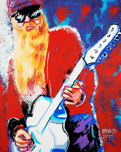 Billy Gibbons - 24x30 - SOLD