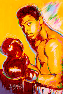 Ali in the Beginning - 22x36 - SOLD