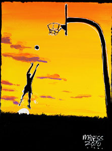 Basketball Sunset - 18x22 - ?