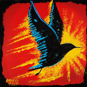 Black Bird into the Light - 20x20 - ?