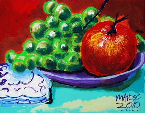 Apple and Grapes - 11x14 - ?