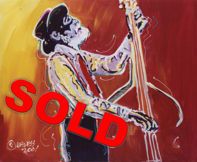Stand Up Bass - 20x24 - SOLD