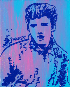 Blue and Pink Elvis - 8x10 - ?