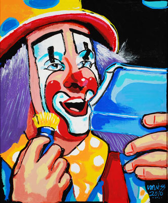 Clown 2010 - 22x24 - SOLD