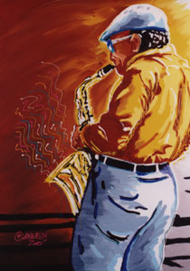 Jazz Man - 30x40 - SOLD