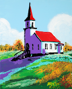 Lavendar Church - 16x20 - ?