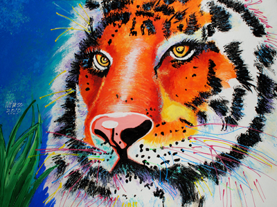 Blue Tiger - 30x40 - SOLD