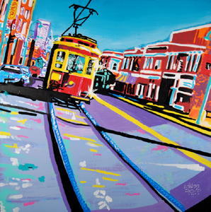 Blue Line Trolley - 41x41 - ?
