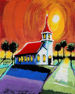 Church in the Moon's Shadow - 16x20 - ?