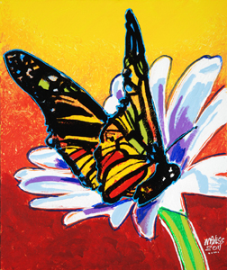 Sunset Butterfly - 20x24 - ?