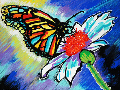 Butterfly Resting - 18x24 - SOLD