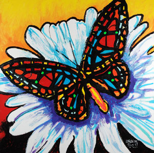 Big Butterfly - 36x36 - ?