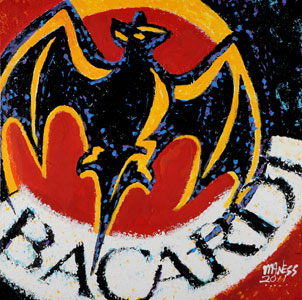 Bacardi Bat - 24x24 - SOLD