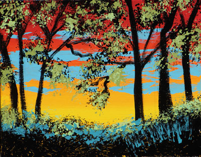 Sunrise Trees - 8x10 - ?