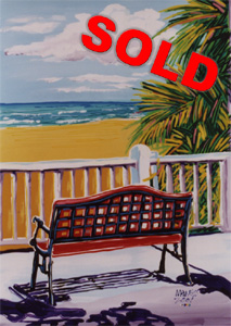 One Bench, No Waiting - 30x40 - SOLD
