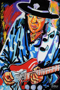 Wild Stevie Ray Vaughn - 24x36 - ?