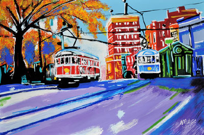 Meeting of Trolleys - 24x36 - ?