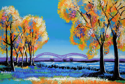 Across the Bridge - 24x36 - ?