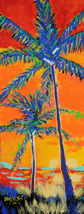 Two Palm Trees - 12x30 - ?