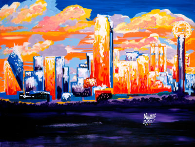 Dallas Sunset - 30x40 - SOLD