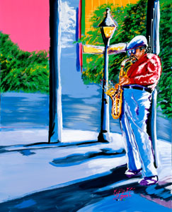 Shadow of the Sax - 24x30 - SOLD