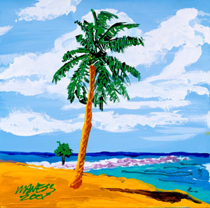 Lonely Palm - 12x12 - SOLD