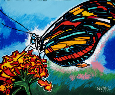 Hungry Butterfly - 20x24 - SOLD