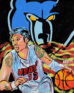 Mike Miller Grizz Heat Grizz - 24x30 - SOLD