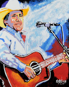 George Strait - 24x30 - SOLD