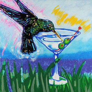 Drunk Humming Bird - 30x30 - ?