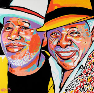 The Barkays 50 Years - 30x30 - SOLD