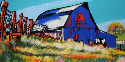 Barn and Fence - 18x36 - ?