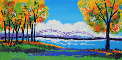 Cloudy M Bridge - 18x36 - ?