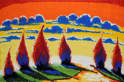 Red Trees - 24x36 - ?