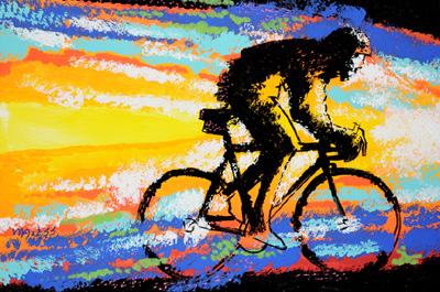 Into the Light<br>Ride to Fight West Clinic Auction - 24x36 - SOLD