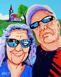 Selfie and the Church - 24x30 - SOLD